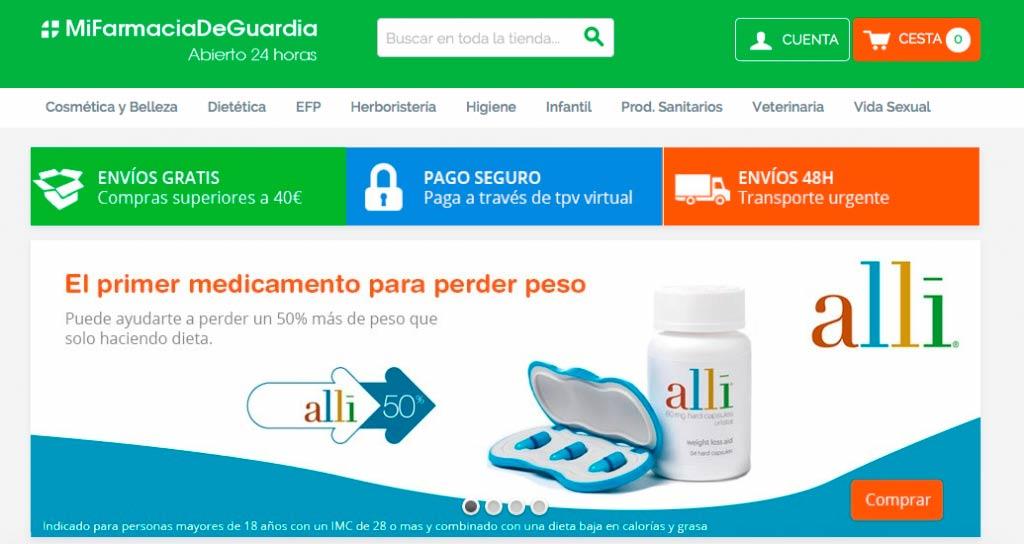 Tienda online Magento, mi farmacia de guardia
