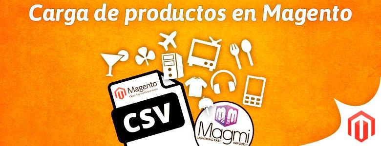 Cargar productos Magento