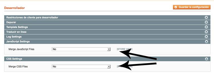 CSS Magento velocidad tienda online